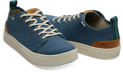 Airforce Blue Heritage Canvas Men's TRVL LITE Low Sneakers
