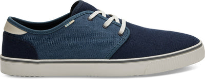 Navy And Mallard Blue Heritage Canvas Mens Carlo Sneakers