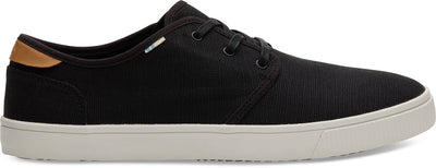 Black Heritage Canvas Mens Carlo Sneaker
