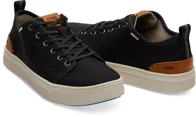 Black Heritage Canvas Men's TRVL LITE Low Sneakers