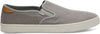 Drizzle Grey Heritage Canvas Men's Baja Slip-Ons