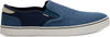 Blue Navy Heritage Canvas Mens Baja Slip Ons