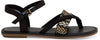 Black Canvas Woven Women's Lexie Sandals