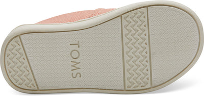 Coral Pink Heritage Canvas Tiny TOMS Classics