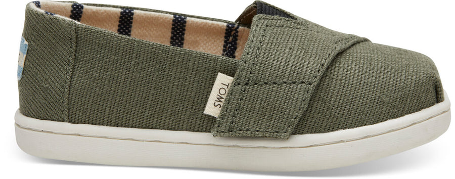 e6be63be4cf Olive Heritage Canvas Tiny TOMS Classics