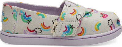 White Jumping Rainbows Tiny TOMS Classics