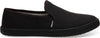 Black on Black Heritage Canvas Women's Clemente Slip-Ons