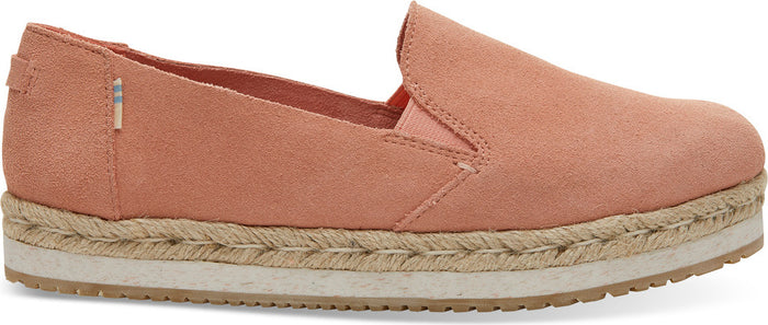 Coral Pink Suede Women's Palma Espadrilles