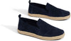 Navy Suede Women's Deconstructed Alpargatas