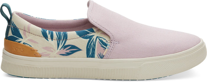 Burnished Lilac Floral Print With Canvas TRVL LITE Women's Slip-Ons