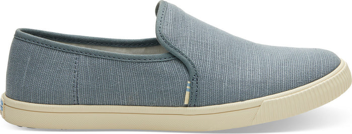 Pebble Grey Heritage Canvas Women's Slip-Ons