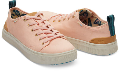 Coral Pink Canvas TRVL LITE Low Women's Sneakers