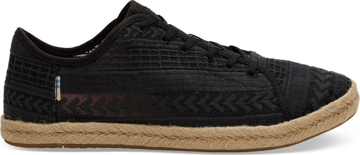 Black Arrow Embroidered Mesh Womens Lena Sneaker