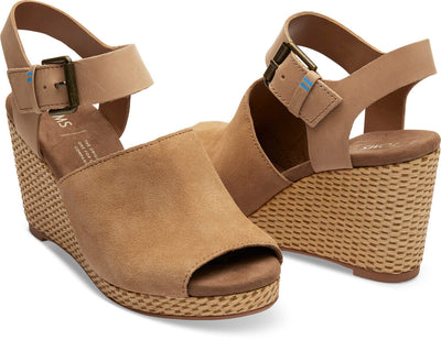 Honey Suede And Leather Women's Tropez Wedges