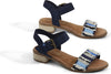 Navy Suede/Coup Denim Women's Camilia Sandals
