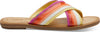 Persimmon Multi Canvas and Transclucent Stripe Women's Viv Sandals