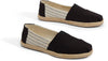 Black Ivy League Stripes Women's Espadrilles