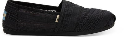 Black Embroidered Mesh Women's Classics