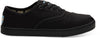 Black On Black Heritage Canvas Women's Cupsole Cordones Sneakers