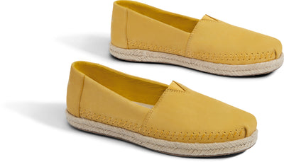 Electric Yellow Nubuck Women's Espadrilles