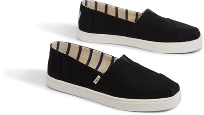 Black Heritage Canvas Women's Cupsole Alpargatas