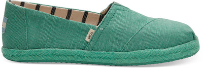 Winter Green Canvas Women's Espadrilles