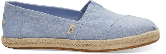 Bliss Blue Tiny Chambray Dots On Rope Women's Alpargata
