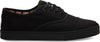 Black On Black Heritage Canvas Men's Cupsole Cordones Sneakers