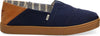 Navy Textured Twil Convertible Men's Alpargatas