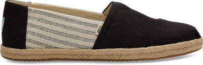Black Ivy League Stripes Men's Espadrilles