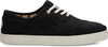 Black Heritage Canvas Men's Cupsole Cordones Sneakers