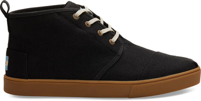 Black Heritage Canvas Cupsole Men's Botas