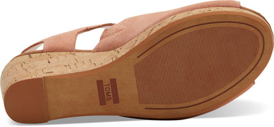 Coral Pink Suede Women's Tropez Wedges