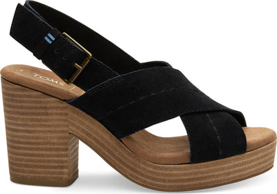 Black Suede Womens Ibiza Sandals