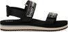 Black Ripstop and Webbing Women's Ray Sandals