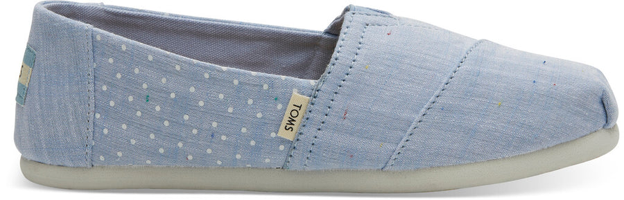 ce3736f21843 Light Bliss Blue Speckled Chambray Dots Youth Classics