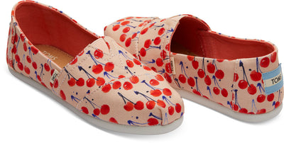 Coral Pink Cherry Cherie Print Youth Classics