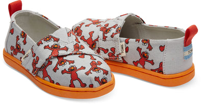Light Grey Elmo Canvas Tiny TOMS Alpargata
