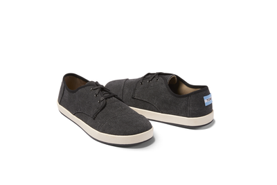 Black Washed Canvas Mens Paseo