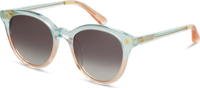 Aaryn Pastel Blue Peach Fade/Dark Grey Gradient Lens