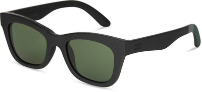 TRAVELER By TOMS Paloma Matte Black Bottle Green Lens