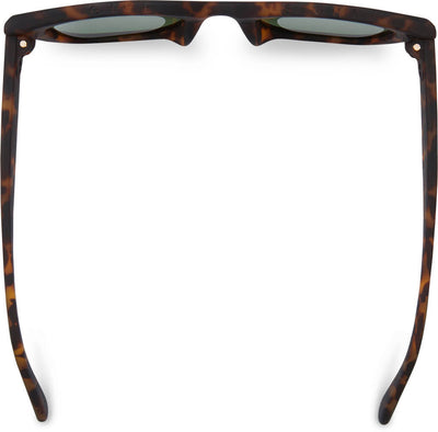 TRAVELER By TOMS Sydney Matte Blonde Tortoise Bottle Green Lens