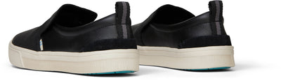 Black Leather Womens Trvl Lite Slip-Ons