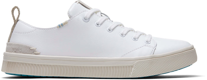 White Leather Womens Trvl Lite Sneakers