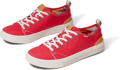 Poinsettia Canvas Womens Trvl Lite Sneakers