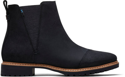 Water Resistant Black Leather Women's Cleo Boot