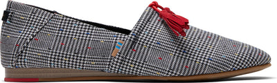 Black Glen Dot Plaid Women's Kelli Flats