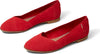 Poinsettia Suede Womens Julie Flat