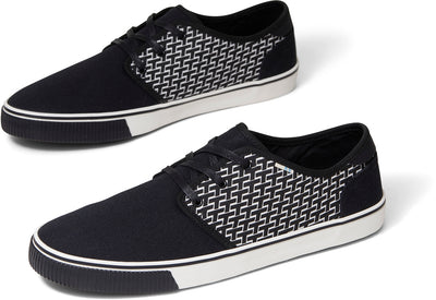 Black Toms Pattern Print Mens Carlo Sneakers