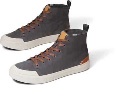 Gunmetal Tumbled Nubuck Men's TRVL LITE High Sneakers